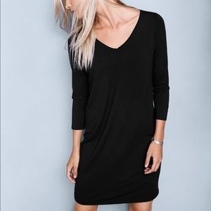 Theory Sharonne Black T-Shirt Dress NWT Size P